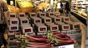 Strawberry and Rhubarb Merchandising