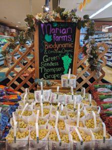 Eureka Natural Foods- Marian Grape Display