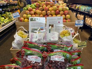 New Moon Natural Foods Marian Grape Display