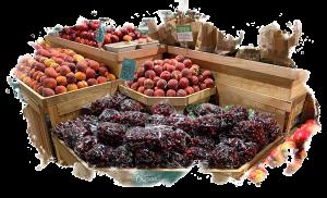 cherries display