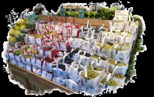 Grape Tote Display